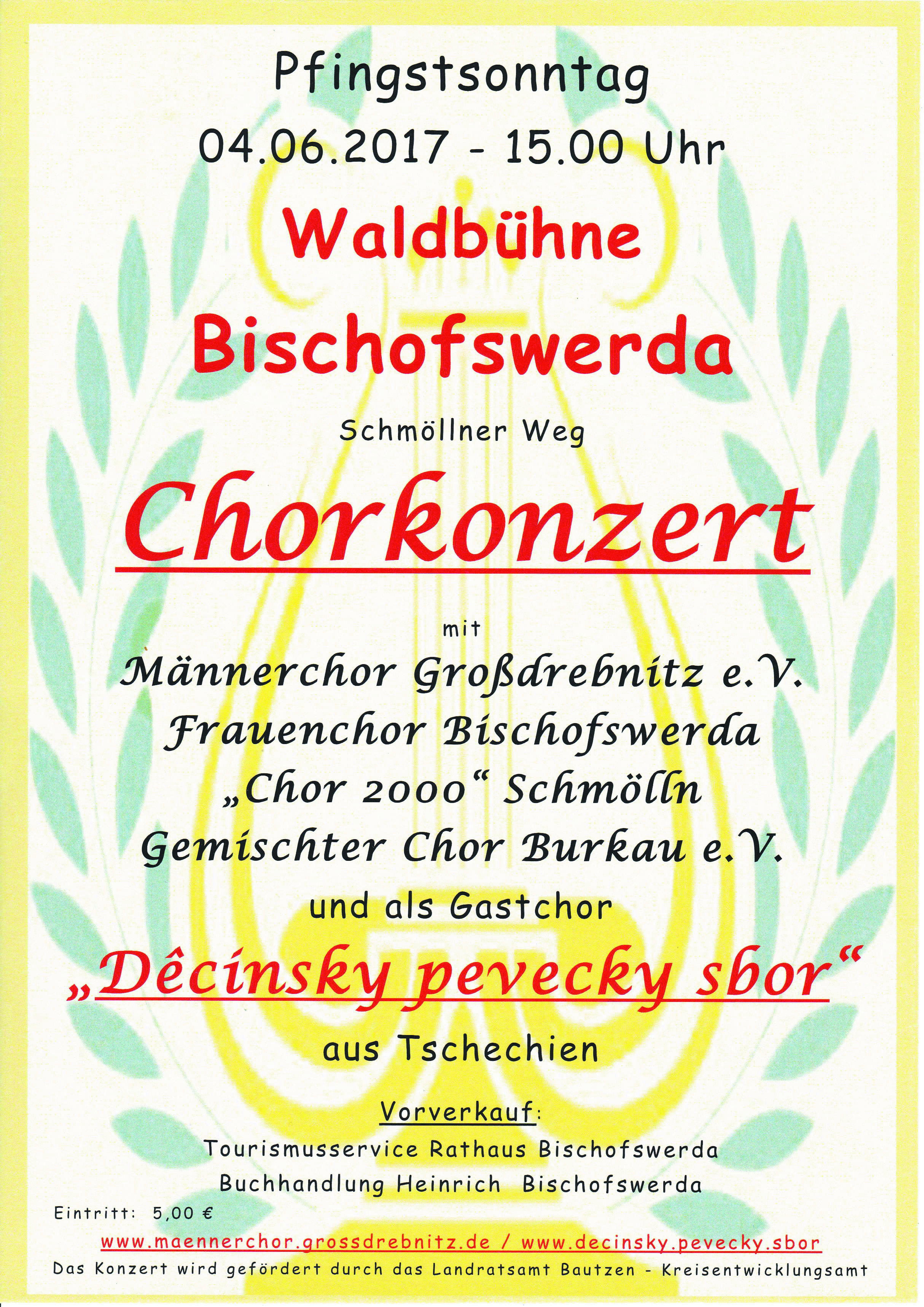 Koncert v Bischofswerdě